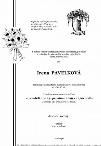 paní Irena PAVELKOVÁ