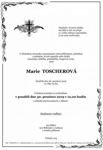 paní Marie TOSCHEROVÁ