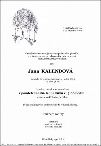 paní Jana KALENDOVÁ
