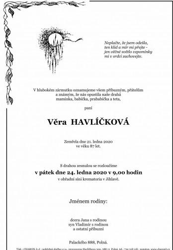 paní Alena HAVLÍČKOVÁ