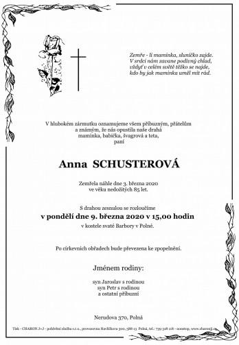 paní Anna SCHUSTEROVÁ