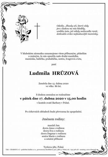 paní Ludmila HRŮZOVÁ