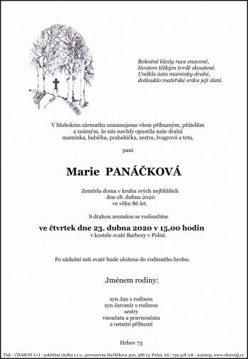 paní Marie PANÁČKOVÁ
