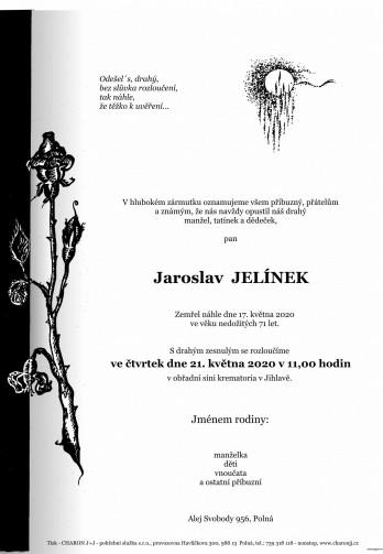 pan Jaroslav JELÍNEK