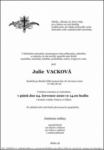 paní Julie VACKOVÁ