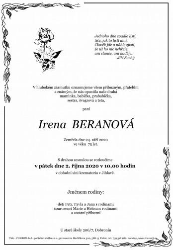 paní Irena BERANOVÁ