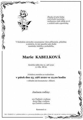paní Marie KABELKOVÁ