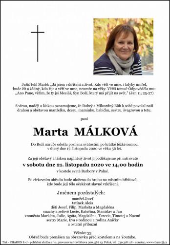 paní Marta MÁLKOVÁ