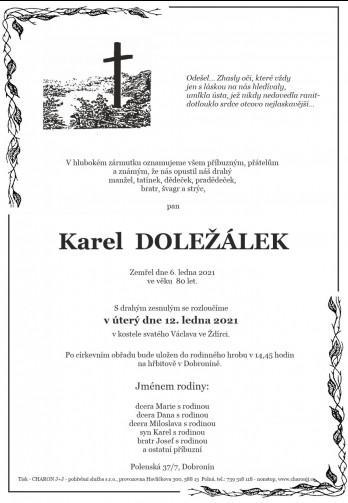 pan Karel DOLEŽÁLEK