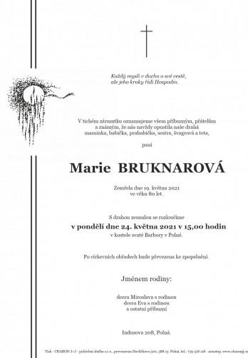 paní Marie BRUKNAROVÁ