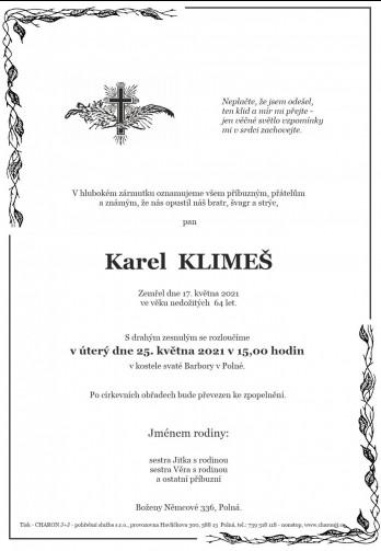 pan Karel KLIMEŠ