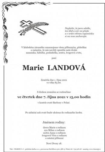 paní Marie LANDOVÁ