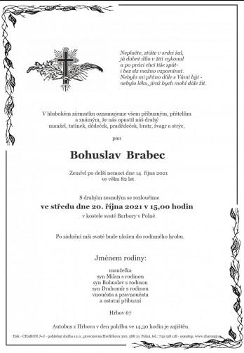 pan Bohuslav BRABEC